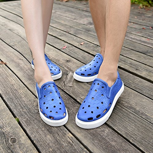 Closed Summer Casual Slippers Blue Sandals Men's Net T with Shoes Hollow Beach Toe JULY Lazy Out Cloth w4RnEqPn