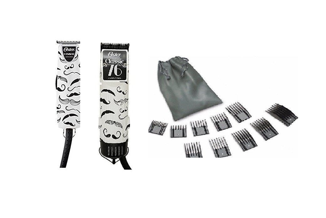 Oster 76 Hair Clipper Mustache and T-finisher Trimmer + 10 PC Comb Set Limited Edition by Oster