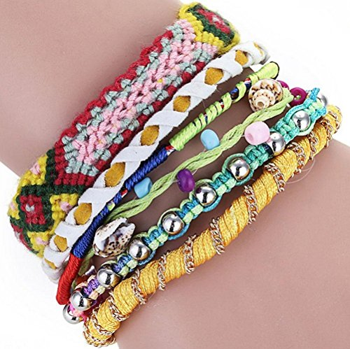 The Starry Night Beads Hand-woven Brazil Multi-layer Mixed Color Joker Alloy Magnetic Buckle - City Outlets Kansas Shopping