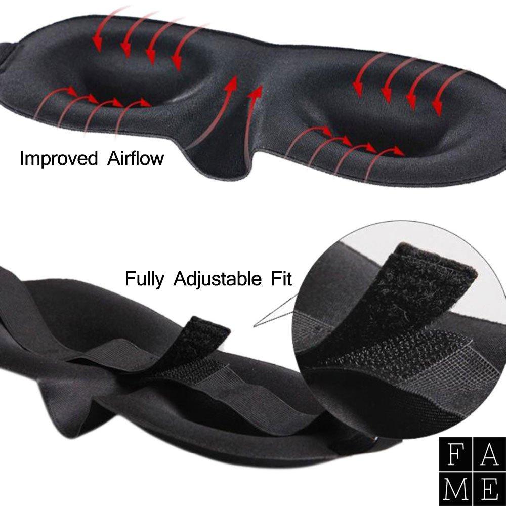 um eine angenehme Nacht black out Eye Maske Ohr Plugs Plus kostenlos F/ührer 10 Schritte Luxus 3D Konturierte Schlafmaske Set f/ür M/änner /& Frauen vollst/ändig Verstellbarer Gurt atmungsaktiv