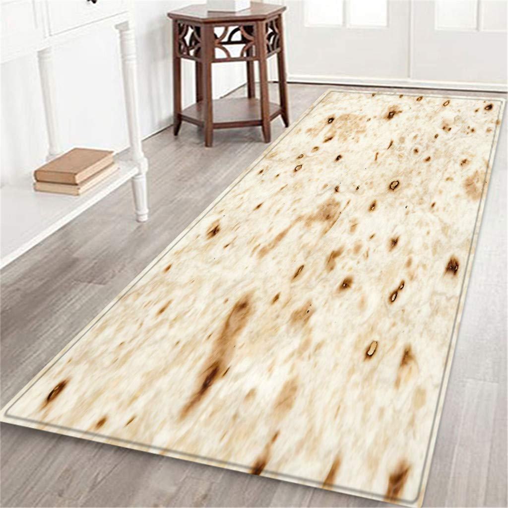 BCDshop Unique Burrito Area Rug Long Floor Mat Rectangle Doormat Indoor Child Play Carpet for Living Bedroom Sofa (C, 2ft X 5.9ft) by BCDshop_Rug Clearance (Image #2)