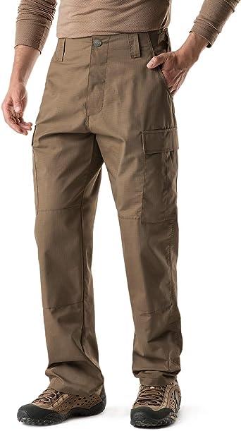 Amazon Com Cqr Pantalones Tacticos Para Hombre De Tela Ripstop Antidesgarro Repelen El Agua Para Combate Militar Pantalones Cargo Bdu Acu Para Trabajo Senderismo Exteriores Clothing