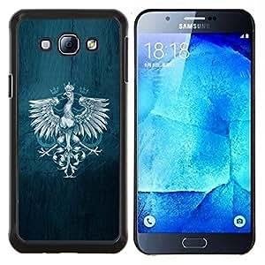 /Skull Market/ - Royal Eagle Crest For Samsung Galaxy A8 A8000 - Mano cubierta de la caja pintada de encargo de lujo -
