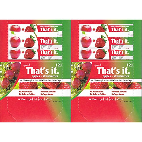 Apple Strawberry Fruit (That's It Fruit Bars, Apple and Strawberry, Pack of 24 (2 Cases))