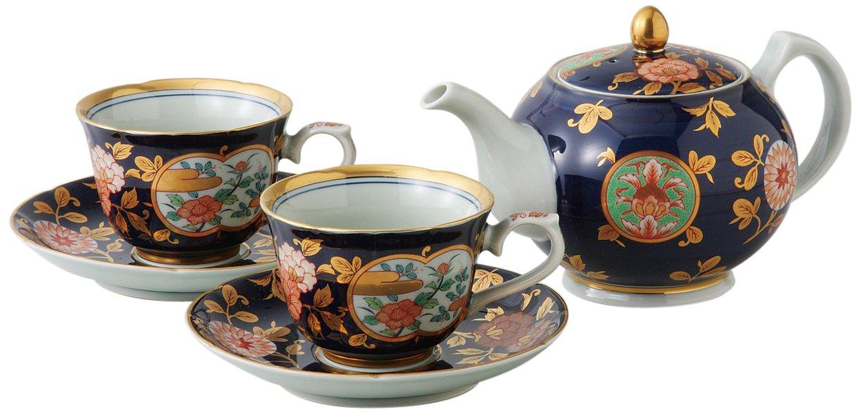 Saikaitoki Imari Aya Kon tea set 11485