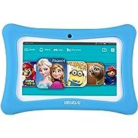 Beneve Andriod 7.1 Tablet para niños, 7 Pulgadas Tablet PC con 1GB RAM 8GB ROM y WiFi, Kids Software iWawa preinstalado, Azul/Rosa Kid-Proof Case Azul Azul