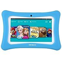 Benve Andriod 7.1 Tablet para niños, 7 Pulgadas Tablet PC con 1GB RAM 8GB ROM y WiFi, Kids Software iWawa preinstalado, Azul/Rosa a Prueba de niños Funda Azul Azul