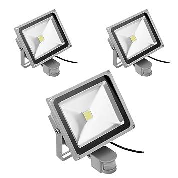 PrimLight Foco con Sensor de Movimiento 3X 30W,Proyector Led ...