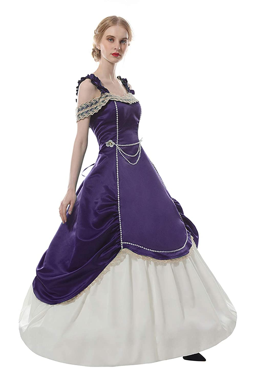 Victorian Dresses | Victorian Ballgowns | Victorian Clothing Lemail Womens Renaissance Medieval Dress 1800s Victorian Era Masquerade Dresses $59.99 AT vintagedancer.com