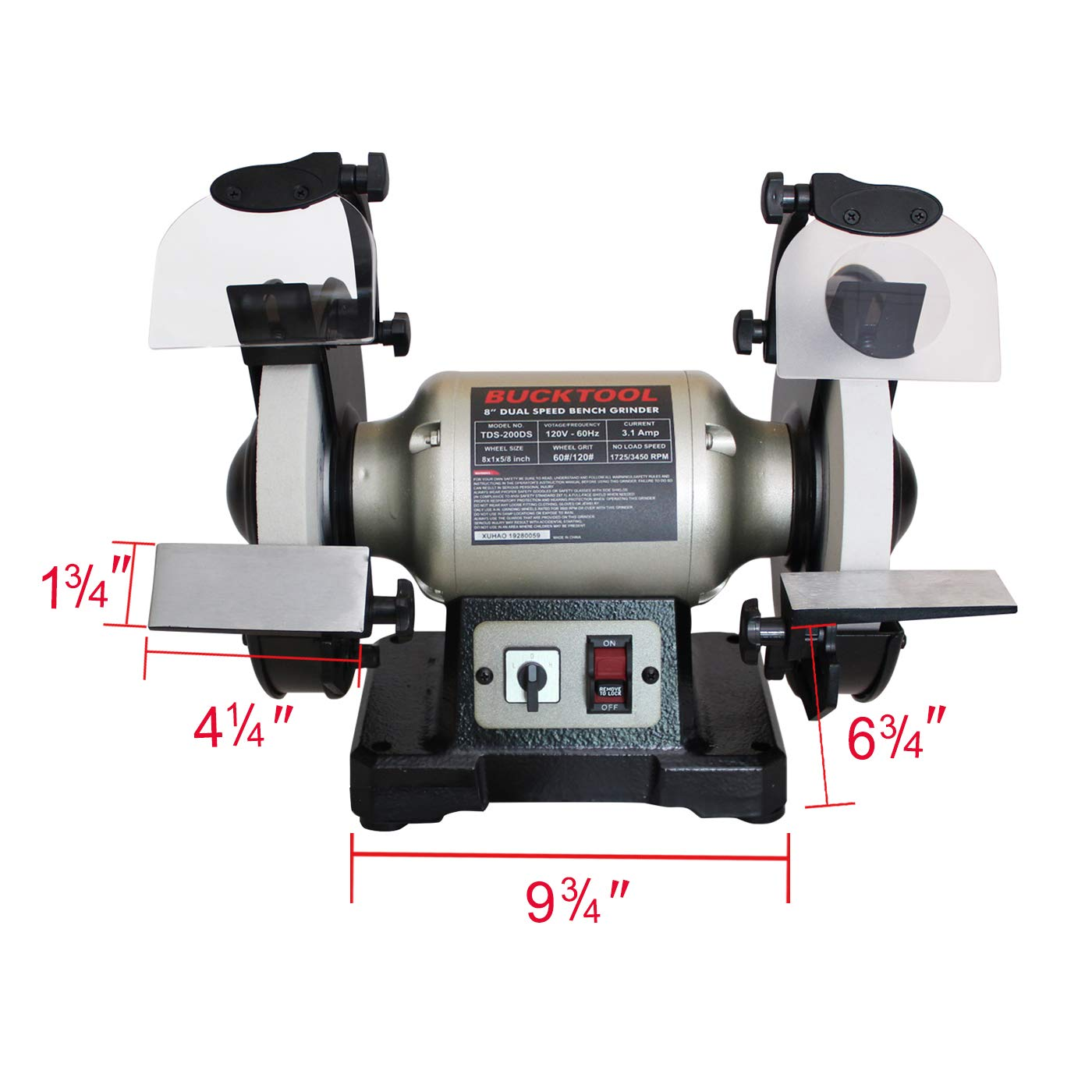 Incredible Bucktool Professional Power Tools 8 Inch Dual Speed Cast Iron Base Bench Grinder Dailytribune Chair Design For Home Dailytribuneorg