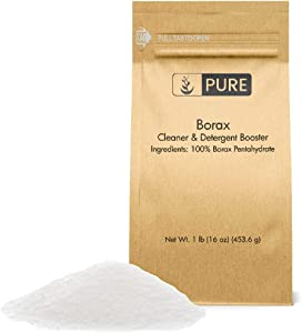 Borax Powder (1 lb.) by Pure Organic Ingredients, Pure Borax, Multipurpose Cleaning Agent, Ideal Slime Ingredient