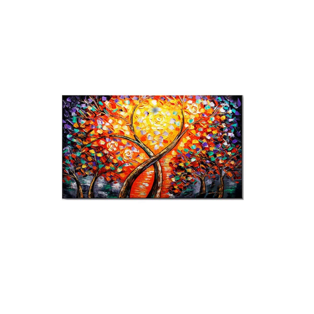 OME&MEI Pintura Al Óleo Pintada A Pintura Mano del Árbol De La Fortuna Pintura A del Extracto De La Sala De Estar Casera del Pasillo del Hotel, Los 30X50Cm 3cdb1d