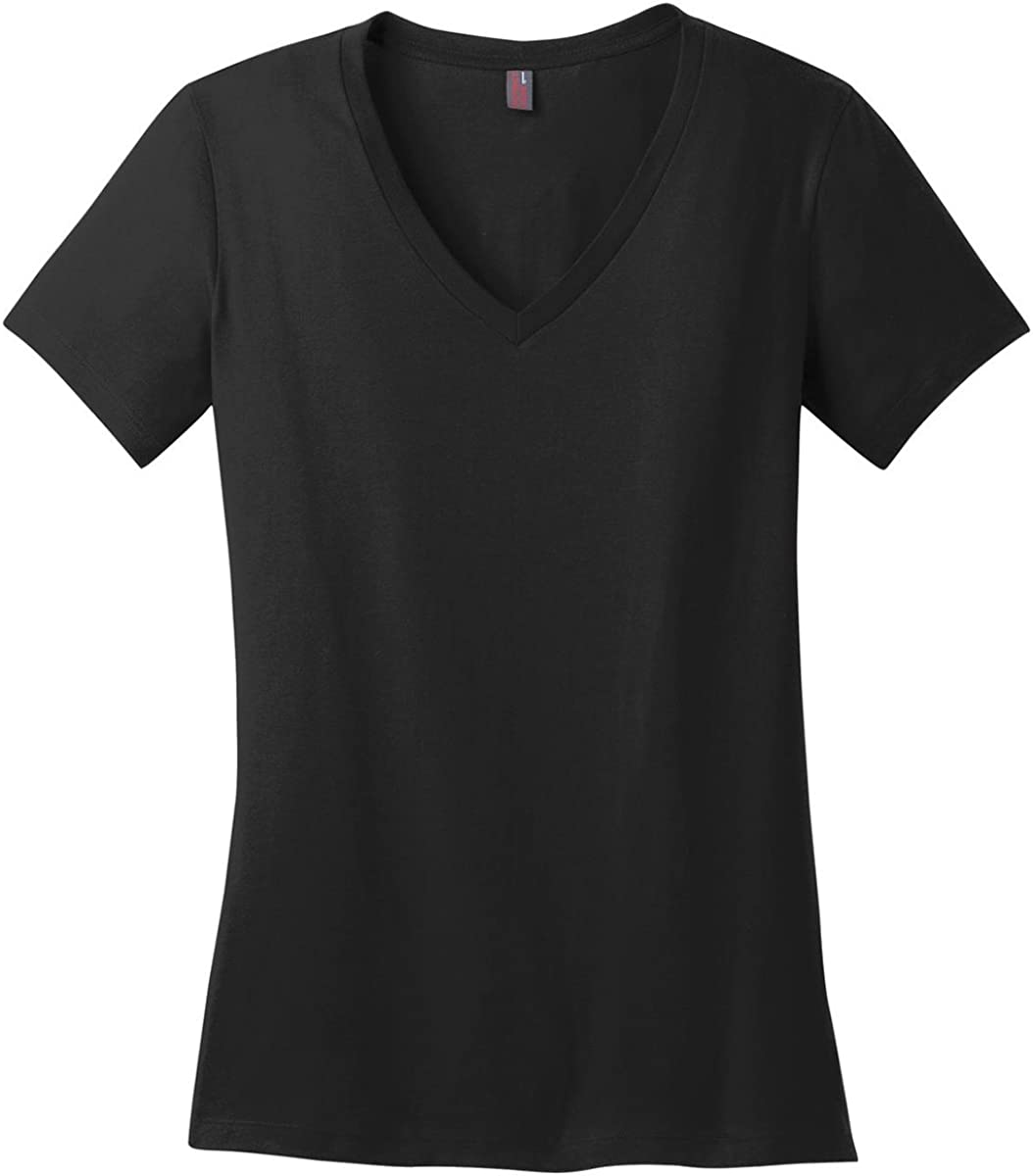 District Made Womens Perfect Weight V Neck Tee