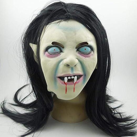 DIMOWANNGG Máscara De Halloween, Morena, Bruja, Zombie, Máscara De ...