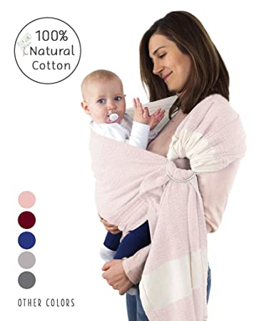 NEW TAN MUSLIN RINGSLING CARRIER//FREE SHIP!HANDMADE COTTON Baby Wrap Adjustable