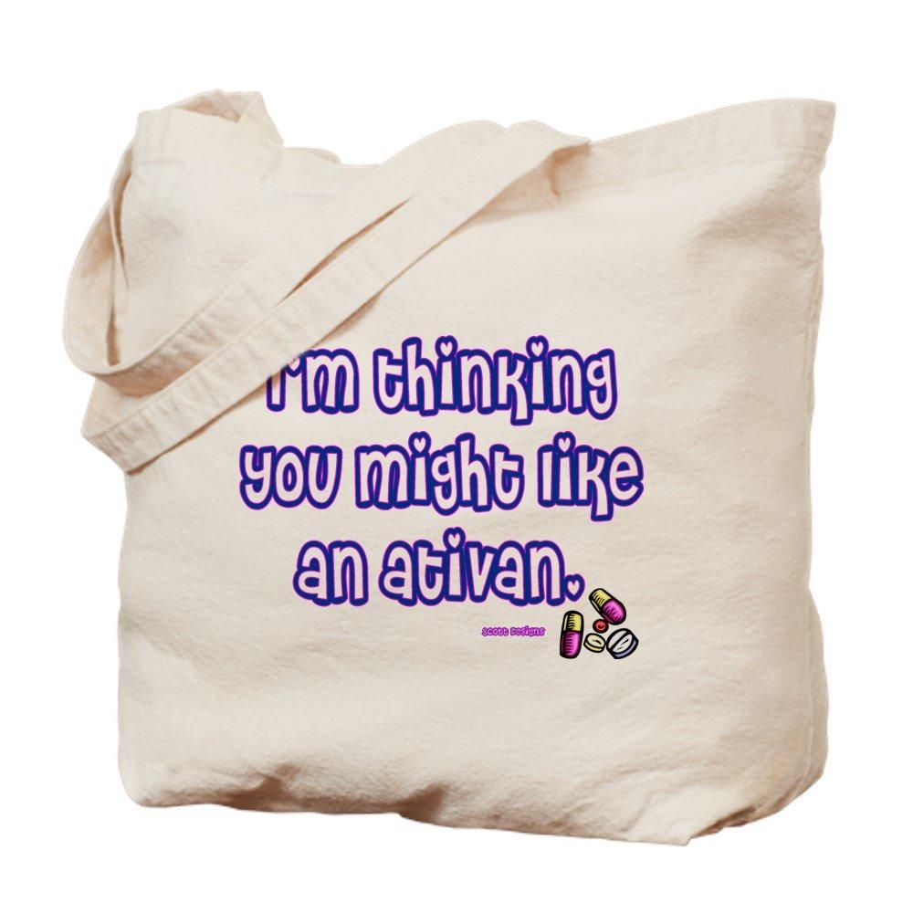 CafePress – Ativan – ナチュラルキャンバストートバッグ、布ショッピングバッグ B01E92QOR2