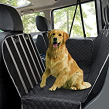 [Sponsored] Dog Car Seat Covers,Waterproof Scratch Proof Pet Seat Covers Dog Seat Covers for Back Seat w/ Mesh Window/ Side Flaps, Convertible dog Hammock, Durable Soft Seat Protector for Cars Trucks & SUVs,Black