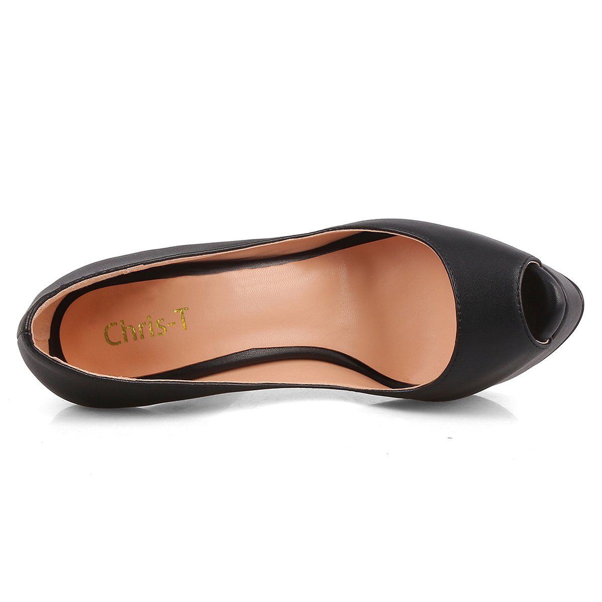Chris-T Damen Slip on High Heels Peep Toe Stiletto Plattform Pumps Pumps Plattform Größe 35-45 Schwarz-matt/R0te Sohle 795be1