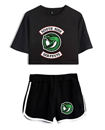 SERAPHY Riverdale Clothing Crop Top T-Shirt and Shorts Suit for Girls//Wowen