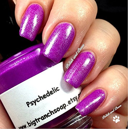 Amazon.com: Neon Purple Nail Polish - Fluorescent - PSYCHEDELIC- UV ...