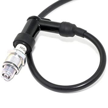 Easyboost Pipa De Bujia Tipo NGK Cable Negro 50cm de Bujía Alta Tensión Silicona Alta Calidad