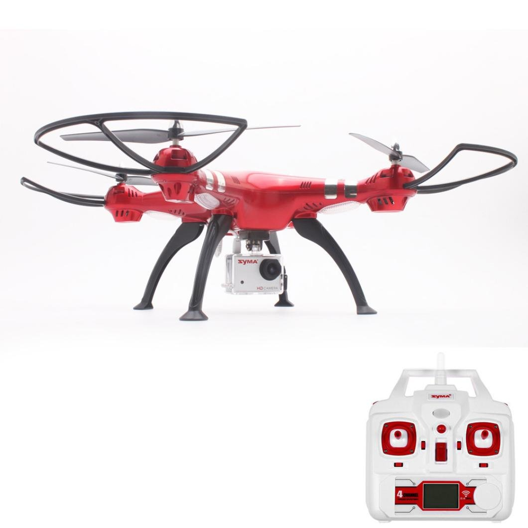 Syma Drone X8HG 8MP Camera 2.4GHz 4CH 6 Axis Gyro RC Quadcopter Barometer Set Height Dreamyth (red) by Dreamyth