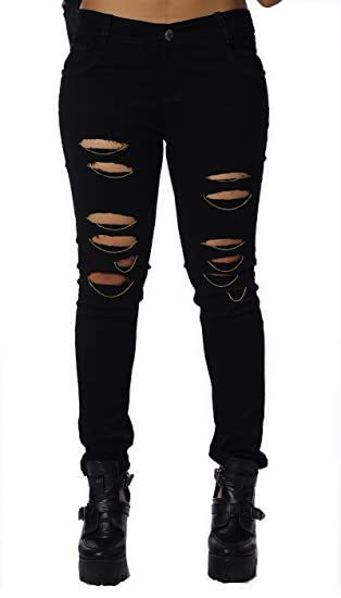 e82f8869283 Estrolo Vintage Classic Skinny Fit Women s Black Jeans  Amazon.in  Clothing    Accessories