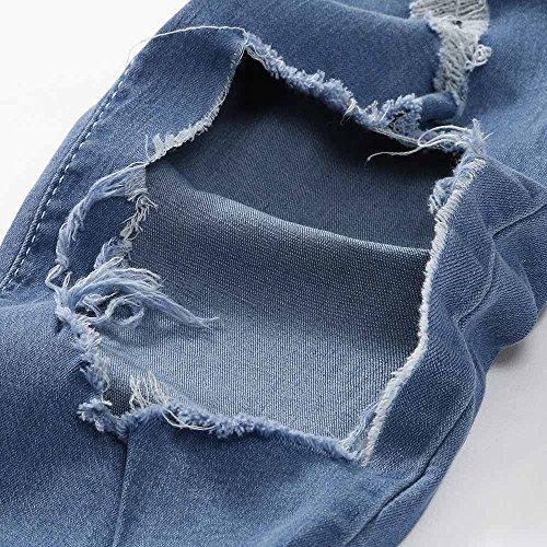 Rétro Avec Homme Pantalon Pieds Décontracté Hommes En Élastique Amuster Jean Séchage À Petits Slim Bleu HE4xwvqq