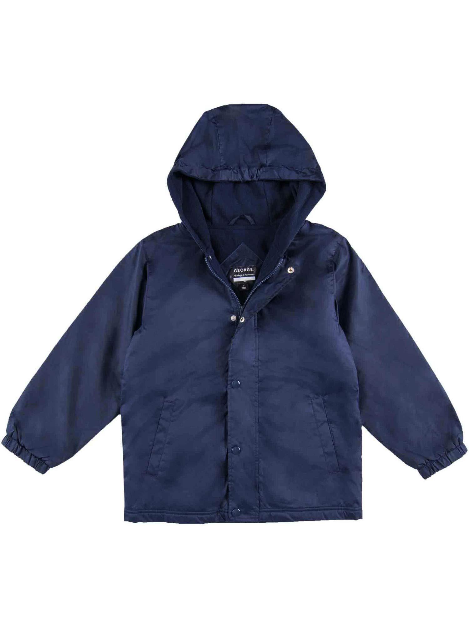 George School Uniform Boys Hooded Fleece Lined Jacket Size Large 10-12