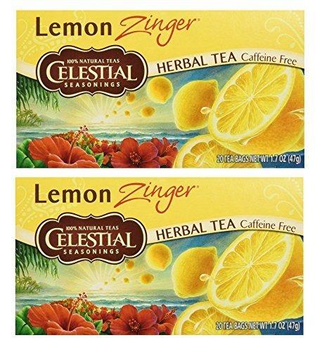 Celestial Seasonings SYNCHKG066353 UPC Herbal Tea, Lemon Zinger, (2 Pack) For Sale