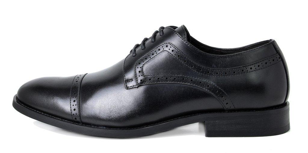 Bruno Marc Men's Waltz-1 Black Genuine Leather Dress Oxfords Shoes Size 11 M US by BRUNO MARC NEW YORK (Image #2)