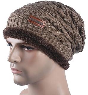 0e5483714d4b07 Spikerking New Mens Knitted Hats Plush Lining Winter Thick Beanie Hat Skull  Cap