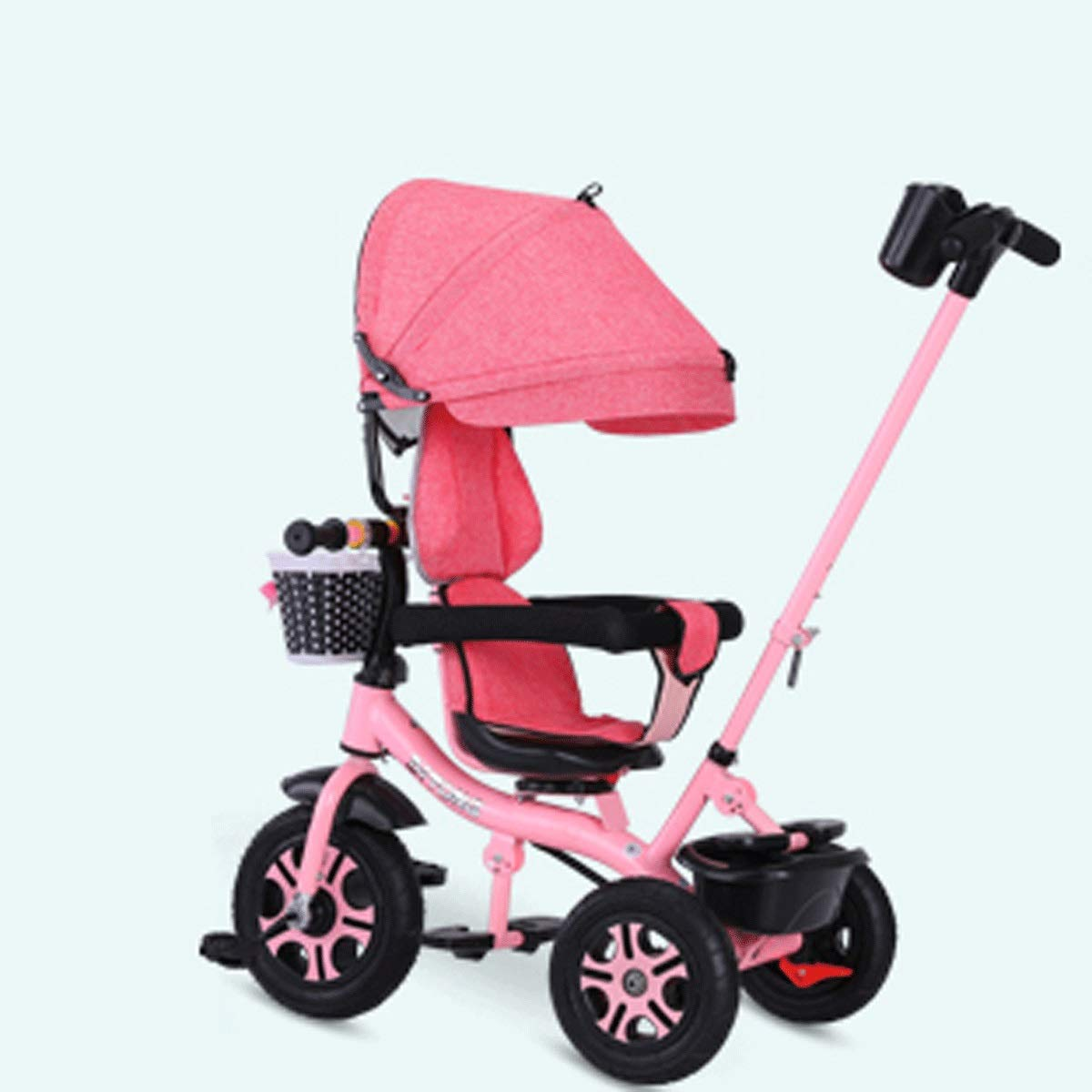Baianju Children's Tricycle Trolley Multi-Function Out-of-The-Box Car Pushable Mounts Folding Children's Tricycle