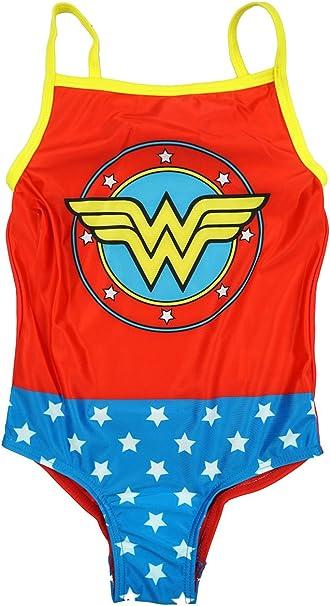 Oficial Niña Dc Comics Wonder Woman Bañador de natación tallas ...