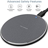 Fast wireless charger 10W Wireless Charging Pad TianYi 2020 Upgraded version ,Compatible with iphone 11/11 Pro/11 Pro Max/XS Max/XR/XS/X/8/8plus, 10W Fast Charging for Galaxy Note 10/Note 10 Plus/S10/S10+/S10E/Note 9/S9/Note 8