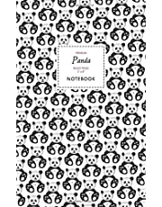 Panda Notebook - Ruled Pages - 5x8 - Premium: (White Edition) Fun notebook 96 ruled/lined pages (5x8 inches / 12.7x20.3cm / Junior Legal Pad / Nearly A5)