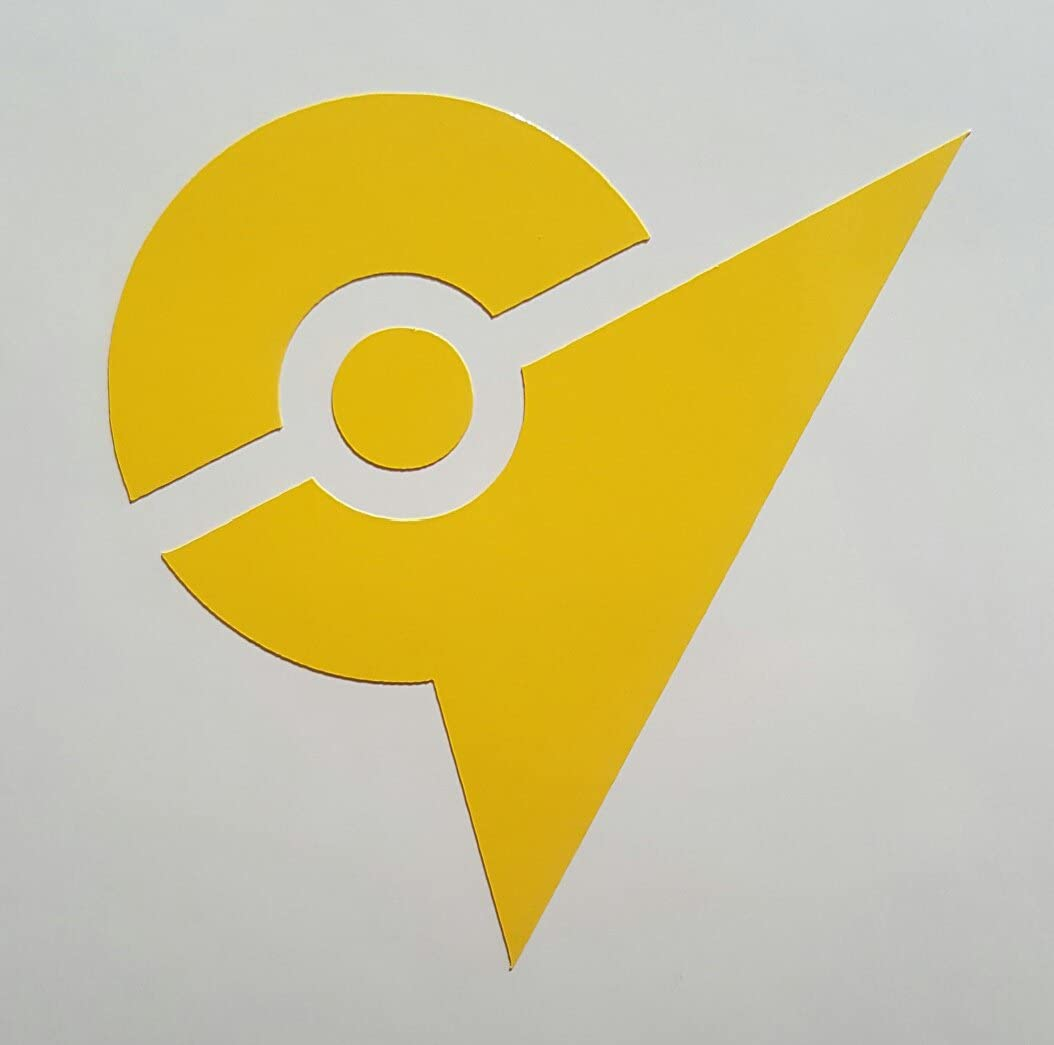 Amazon Com Stick Emall Team Instinct Yellow Gym Decal 2 1 4 Wide For Phone Cases Pokemon Go Inspired Automotive