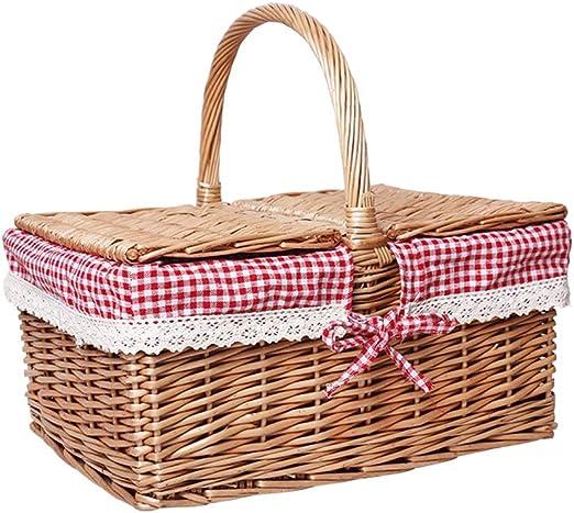 JQHLJYCL Salida canasta de picnic de picnic de primavera ...
