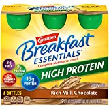Carnation Breakfast Essentials High Protein Ready To Drink, Rich Milk Chocolate, 8 Fluid Ounce (Pack of 24)