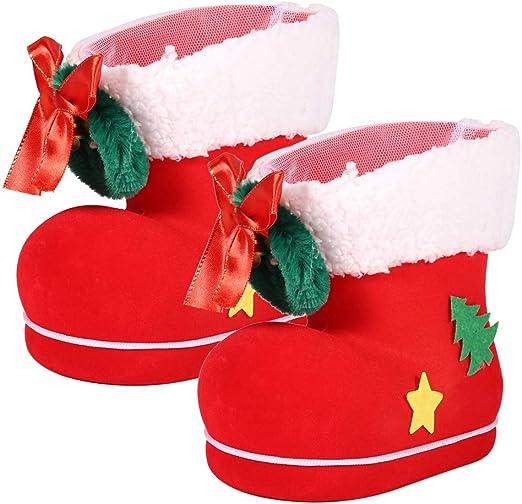 AUNMAS Bota de Navidad roja Bota de Navidad Grande Caja de Dulces ...