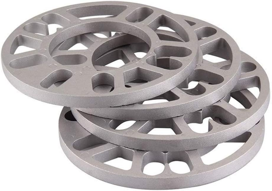 Garneck 4pcs entretoises universelles dalliage daluminium Cales despacement 4 et 5 Goujon pour Voiture Universelle 10mm d/épaisseur