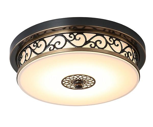 deckenleuchte rund rustikal landhaus lampe braun deckenlampe mit ... - Deckenleuchten Wohnzimmer Landhausstil