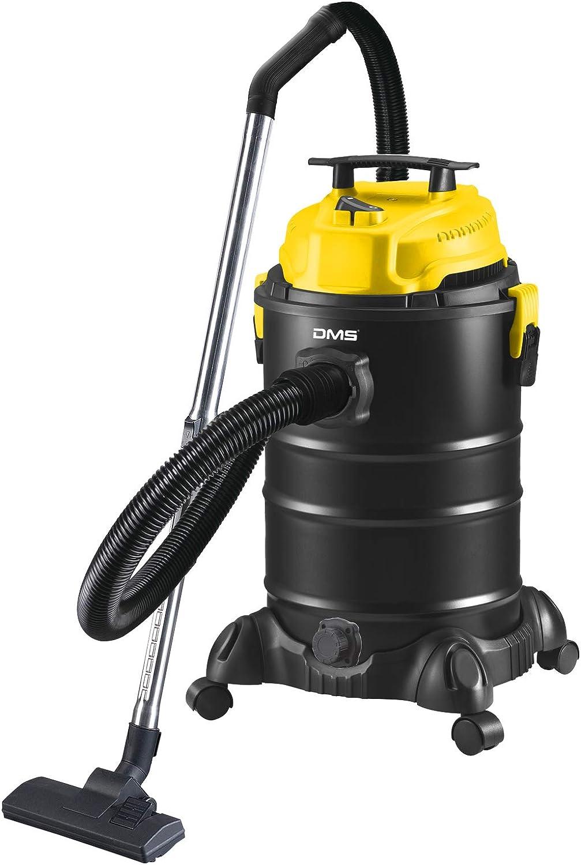 DMS® NTAS-30 - Aspiradora industrial 4 en 1, 1800 W, para cenizas, seco, sin bolsa, 30 litros, metal, aspirador de cenizas, aspiradora multiusos, sin bolsa, función de soplado amarillo: Amazon.es: Hogar