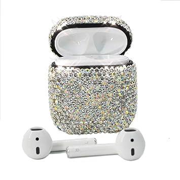 Amazon Com Airpods Case Meiqing Bling Luxurious Diamonds Airpod