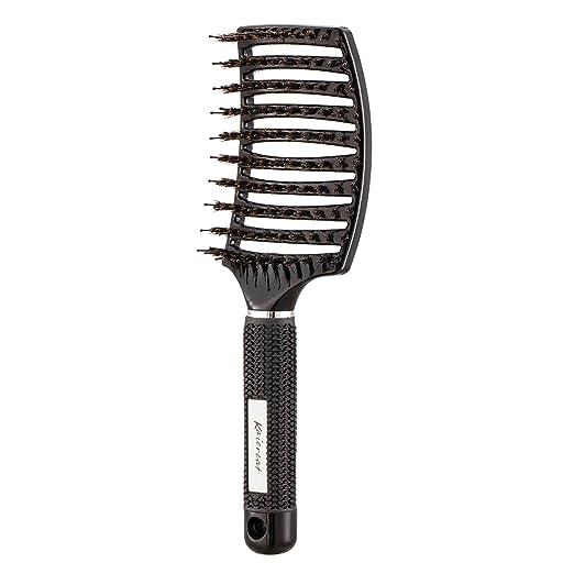 12 opinioni per Spazzola Kaiercat con setole di cinghiale per eliminare i nodi dei capelli più