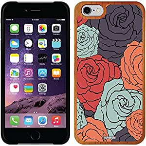 fashion case iphone 5s Madera Wood Thinshield Case with Colorful Floral Design