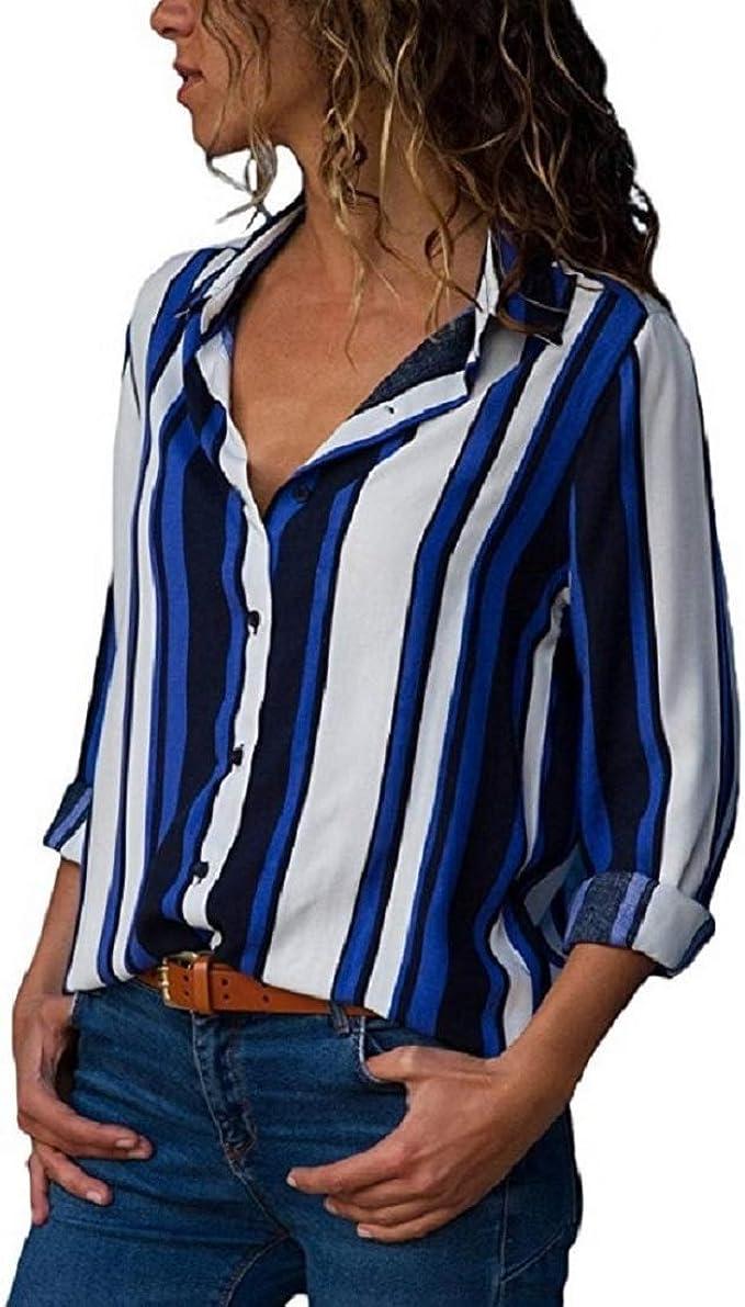 Camisas Mujer Sexy Manga Larga Blusas Camiseta Verano Cuello V ...