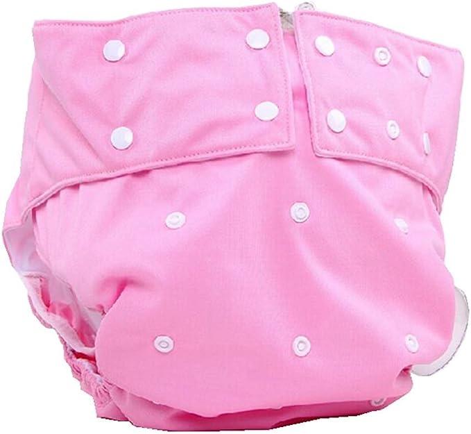 Couche en tissu pour adulte double ouverture pour adulte 03# lavable ajustable /étanche r/éutilisable Couche en tissu pour incontinence