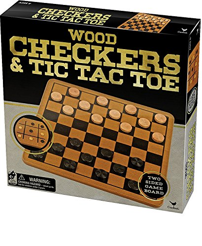 checkers board game wooden - 2