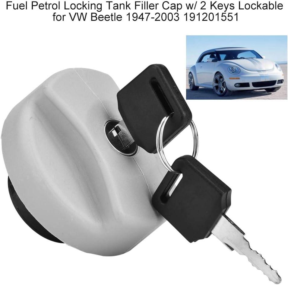 GOZAR Car Fuel Petrol Locking Tank Fillter Cap Lockable 2 KEYS for VW LUPO BEETLE POLO